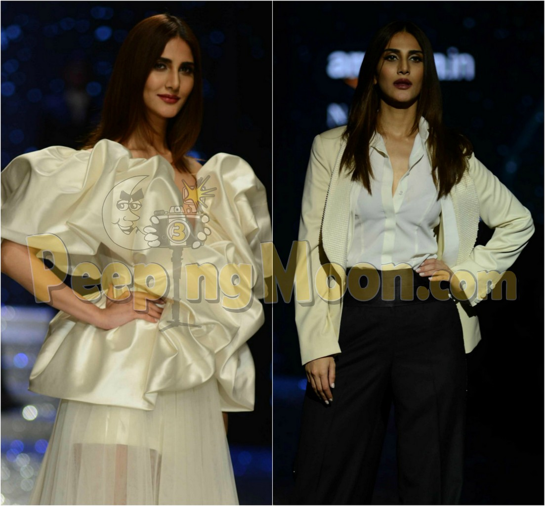 Vaani Kapoor Slays As Bond Girl For Gauri And Nainika And Ashish N Soni At Amazon India Fashion Week Autumn Winter 2018