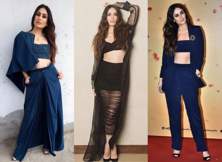 Veere Di Wedding Outfits.Kareena S Mid Riff Revealing Fashion For Veere Di Wedding Promotions
