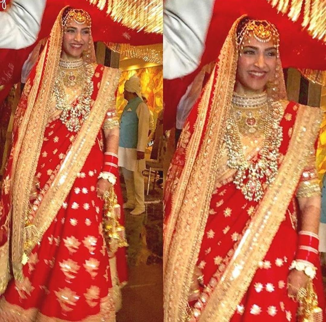 Sonam Kapoor Wedding.Sonam Kapoor S Makes A Grand Entry At Her Wedding Venue With