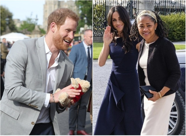 Prince Harry meets well-wishers outside Windsor Castle on wedding ...